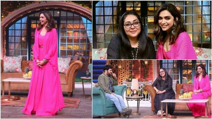 Deepika Padukone paints the town pink, promotes Chhapaak with Meghna Gulzar on The Kapil Sharma Show.